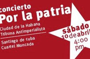 ARTISTAS CUBANOS EN CONCIERTO POR LA PATRIA.