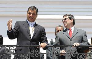 PRESIDENTE DE ECUADOR RECIBE A CANCILLER CUBANO