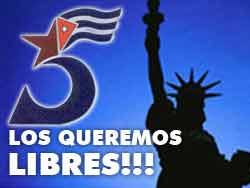 Continúa campaña por la libertad de antiterroristas cubanos