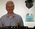 Mi solidaridad con la causa de los Cinco: Julian Assange en videoconferencia con jóvenes cubanos